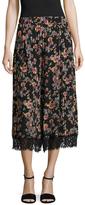 ABS by Allen Schwartz Pleated Floral Print Culotte