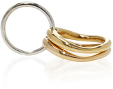 Charlotte Chesnais Silver and Gold Neo Lover Ring