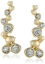 "lonna & lilly Classics"" -Tone Crystal Bubble Crawler Earrings"