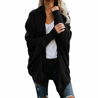 Yczx Women's Cardigans Long Sleeve Shawl Collar Comfy Soft Knit Sweater Outwears Curved Hem Open Front Warm Elegant Cardigans Plain Classic Oversized Cardigans Casual Daily Life or Work Outfit One Size