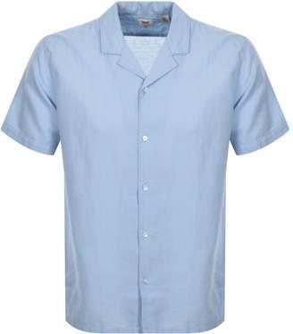 Levi's Levis Short Sleeved Cubano Shirt Blue