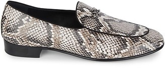 Giuseppe Zanotti Snakeskin-Embossed Leather Loafers