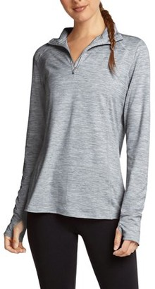 Danskin Women's Activewear Quarter Zip Space Dye Pullover