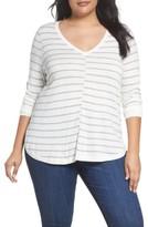 Caslon Plus Size Women's Marled V-Neck Sweater