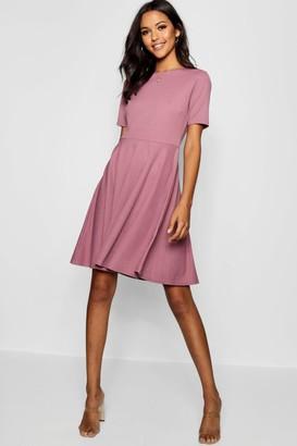 boohoo Tall Short Sleeve Skater Dress