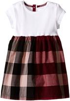 Burberry Rib Jersey Woven Mix Dress Girl's Dress