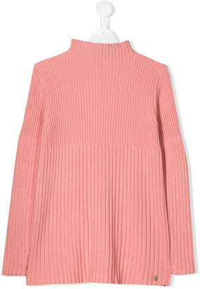 Simonetta TEEN ribbed long-sleeve sweater