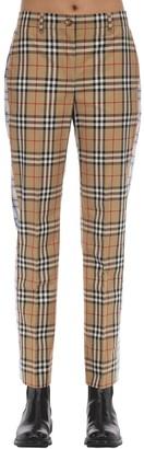 Burberry Cotton Canvas Pants W/ Side Bands