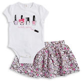 Kate Spade Baby Girls Baby Girls Perfectly Polished Bodysuit and Floral Skirt Set