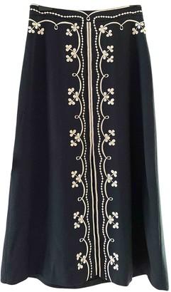 Vilshenko Navy Wool Skirt for Women