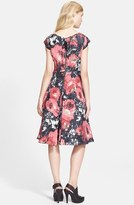 Tracy Reese Print Jacquard Fit & Flare Dress