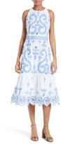 Tory Burch Women's Mariana Embroidered Cotton Midi Dress