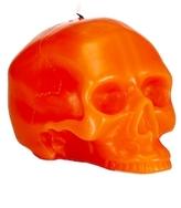 D.L. & Co. Medium Bright Orange Skull Candle