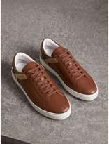 Burberry Leather and House Check Trainers