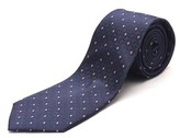 Luciano Barbera Men's Slim Silk Neck Tie Navy Pink.