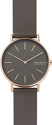 Skagen Womens Analogue Quartz Watch with Real Leather Strap SKW2794