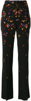 Givenchy floral tailored trousers - women - Silk/Cotton/Elastodiene/Viscose - 36