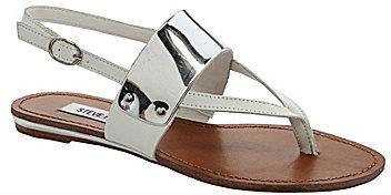 Steve Madden Cufff Metallic-Detail Flat Sandals