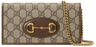 Gucci 1955 Horsebit wallet with chain