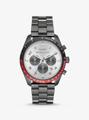 Michael Kors Oversized Keaton Gunmetal-Tone Watch