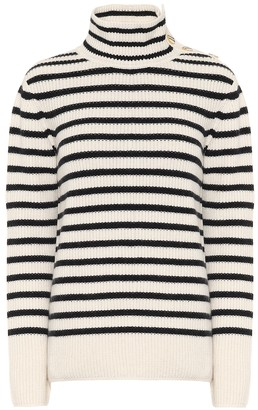 Tory Burch Striped wool and cashmere sweater
