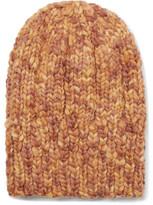 Etro Ribbed Mélange Wool Beanie - Orange