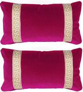 Miles Talbott Collection S/2 Robertson 12x23 Pillows, Sangria