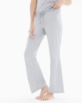 Soma Intimates Essential Cotton Blend Pajama Pants with Trim Metro Gray Heather
