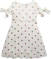 Very Girls Copper Polka Dot Dress