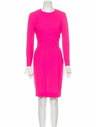 Roksanda Wool Knee-Length Dress Pink