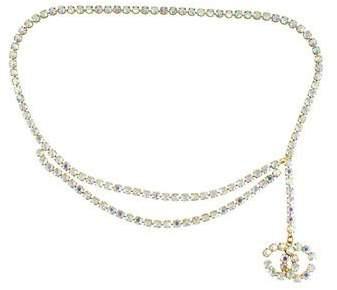 Chanel Multi-Strand Crystal CC Belt