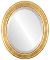 """The Oval And Round Mirror Store Wright Framed Oval Mirror in Gold Leaf, 23""""x27"""""""