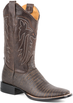 Roper Brown Teju Lizard-Embossed Leather Cowboy Boot