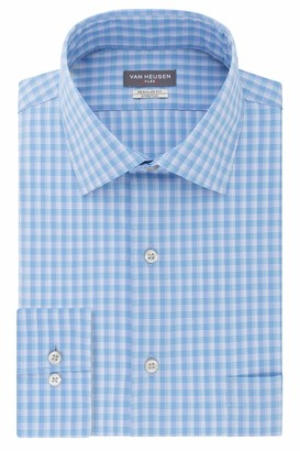 Van Heusen Men's Flex Regular Fit Spread Collar Dress Shirt