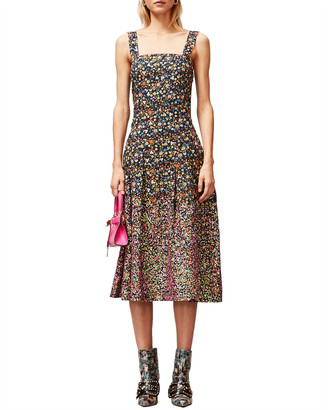 Tory Burch Sequin Embroidered Cotton Dress
