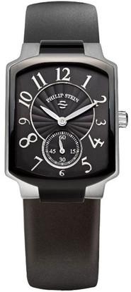 Philip Stein Teslar 21TB-FB-RBLadies WatchAnalogue QuartzBlack DialBlack Silicone Strap