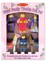 Melissa & Doug Kids Toys, Royal Family Wooden Doll Set