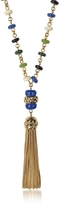 Tory Burch Multicolor Beaded Tassel Long Necklace