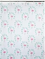 George Home Flamingo Palm Print Shower Curtain