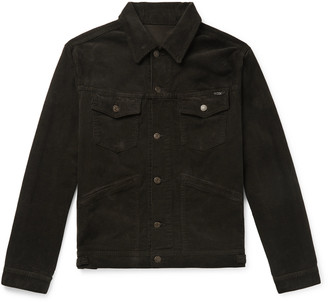 Tom Ford Slim-Fit Washed Cotton-Blend Corduroy Trucker Jacket