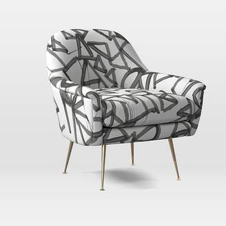 west elm Phoebe Chair - Lively Lines Print