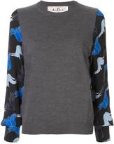 Marni hands print crew neck jumper