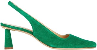 BY FAR Diana Suede Slingback Pumps