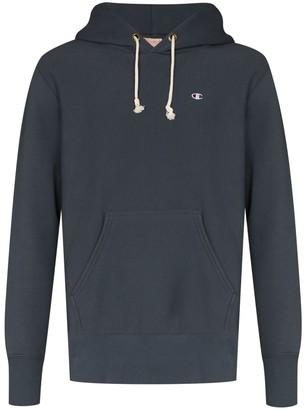 Champion Logo-Patch Drop-Shoulder Hoodie