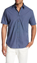 James Campbell Atlus Short Sleeve Pocket Print Regular Fit Shirt