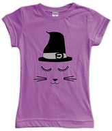 Urban Smalls Purple Witch Cat Fitted Tee - Toddler & Girls