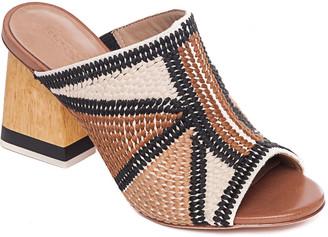 Bernardo Embroidered Canvas Mule Sandals