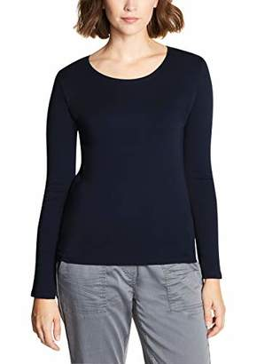 Cecil Women's 314022 Pia Long Sleeve Top, (deep Blue 10128), X-Large