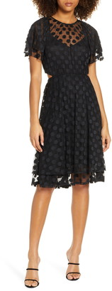 Ali & Jay JoJo Cutout Dot Mesh Dress