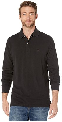 Tommy Hilfiger Kent Long Sleeve Polo Classic Fit (Jet Black) Men's Clothing